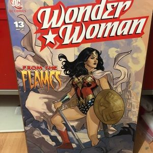 Wonder Woman wall decor.
